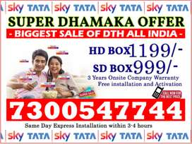 Tata Sky New Offer Dish Tatasky Airtel tv (Free FireTv & 6 Month Pack)
