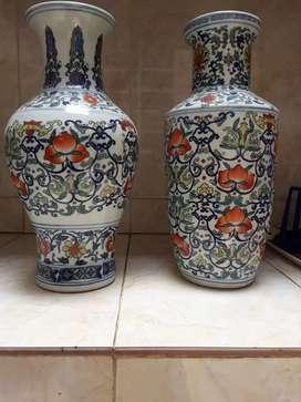 Jual guci pot bunga bunga