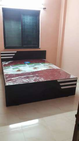Ned black bed and mattress