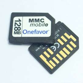MMC mobile memory card 256,512,mb or 1gb