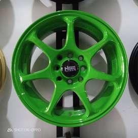 VELG HSR SEBUNSUTA Ring 15 Lebar 6,5 Pcd 4x100/4x114,3 GREEN DI MEDAN