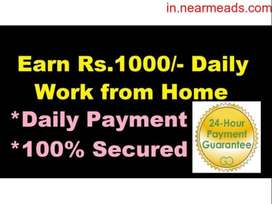 Daily/ Weekly payout - Online typing/ Data Entry Jobs- Genuine Hiring