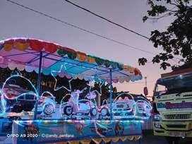 lampu odong EK kereta mobil remot mini coaster LED audio sirine