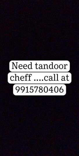 Need tandoor cheff