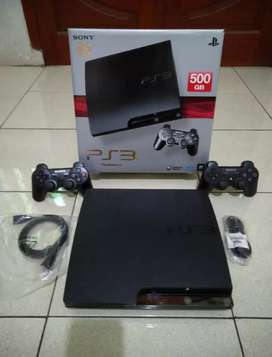 Ps3 Slim 500gb full 50 game pasti kenyang 2 Stik siap ngegame