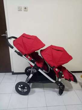 Baby Jogger City Select With Second Seat Ruby