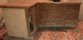 Wooden Cabinet (L-Shaped)