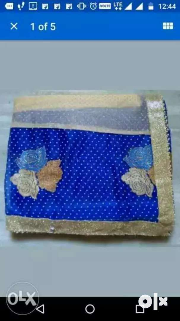 Blue And White Knitted Textile 0