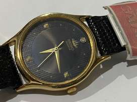 RARE SLIM GOLD PLATED SEIKO MENS WATCH,1980's,NEW OLD STOCK