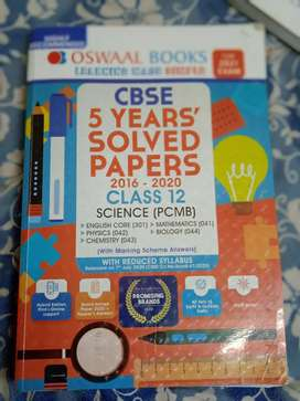 Oswaal   5years solved papers   class 12 PCMB