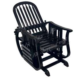 Solid Kikar Wood rocking Chair Black