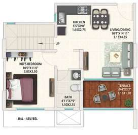 3 BHK apartment for sale in Kharadi at Gera World of Joy