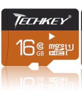 Techkey Micro SD Card - 16GB Class 10 Water Proof And Dust Proof