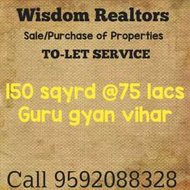 150 sqyrd 6bhk kothi at 75 lacs only