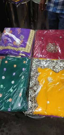 Work and katan sarees whole sale for ramzan special