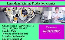 Production industry vaccancy