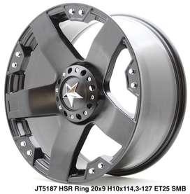 Pelek Murah RASTA JT5187 HSR R20X9 H10X114,3-127 ET25 SMB