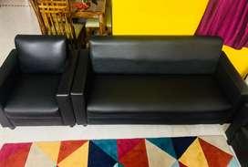 Descent Charcoal Black sofa