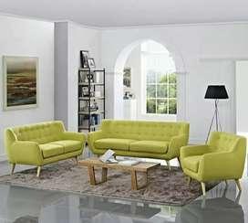Set sofa retro kayu jati solid ( jok bludru halus)