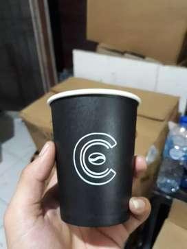 Sablon gelas kertas plus logo PAPER CUP 22oz