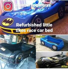Tempat Tidur Mobil Mobilan Little Tikes Kondisi Refurbish Preloved