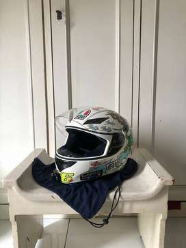 HELM AGV K3 WHITE ZOO