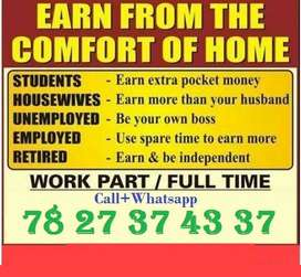 In online process you can take work in home. In data entry field avail
