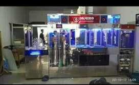 Pemasangan depot air minum stanles hanya ada di Damisiu