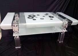 Meja Tamu / Coffee Table Importa CT-IMP M02 New (Kaca Tekuk)