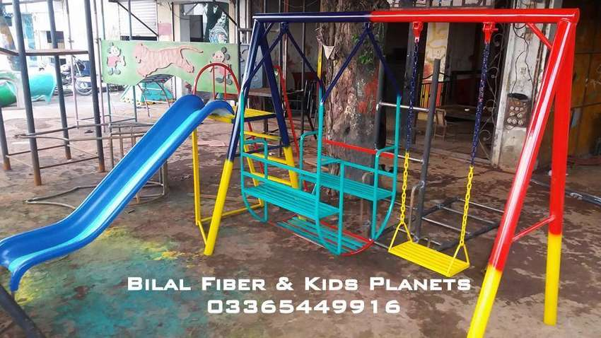Kids slide,swing and 4seater bucket (Outdoor playground unit) 0