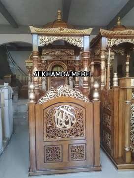 Ready Mimbar Masjid Berkualitas Bahan Kayu Jati