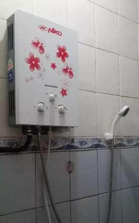 Water Heater Niko  Mandi Air Hangat  Tanpa Listrik