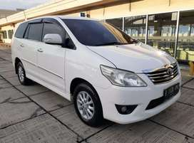 Innova V AT diesel 2013 putih ( Toyota Matic )