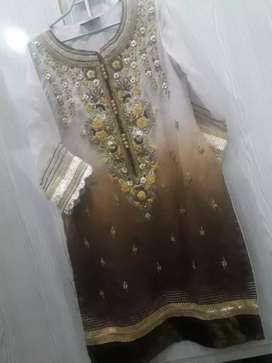 3 piece embroided fancy dress for wedding