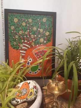 HANDMADE MADHUBANI  PAINTING( NEW)