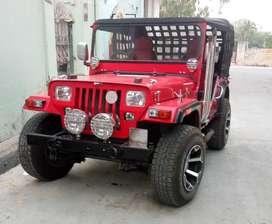Red modify open jeep
