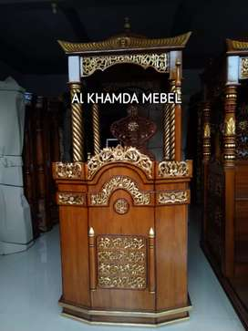 Ready Mimbar Masjid Material Kayu Jati Berkualitas #344