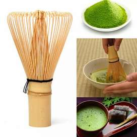 HOUSEEN Kuas Pengaduk Matcha Green Tea Bamboo Whisk Brush - ZF0824-001