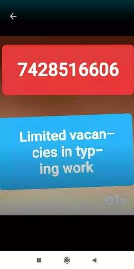 Part time job data typing work