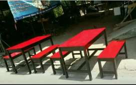 Meja dan kursi warung murahh meriah