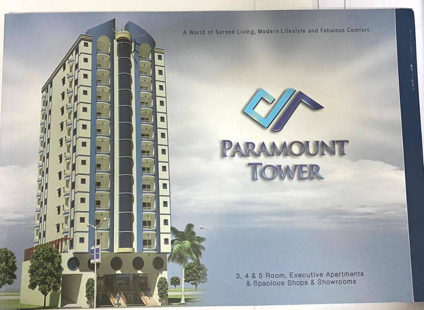 Direct Owner 3 Bed D/D for sale in PARAMOUNT TOWER Gulshan-e-Iqbal BL2 0