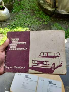 Buku Manual Owner Handbook Fiat 124 Special