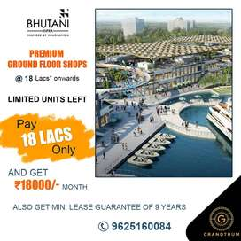 Commercial shop and office space for sale in Bhutani Grandthum