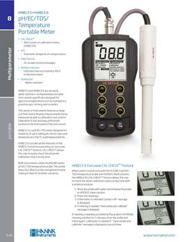 Hanna Instruments Portable pH/ECTDS/Temperature meter