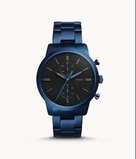 FOSSIL Townsman 44mm Chronograph Blue Stainless Steel Watch