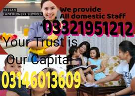 Domastic staff available for all over Pakistan 24/7