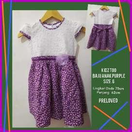 Baju Anak Perempuan  Purple KIDZ TOO Size  6