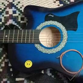 Blue color guitar