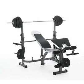 Promo murah bench press set lengkap