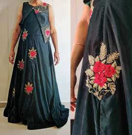 Rarely used velvet Gown worth 9.7k for marriage & functions